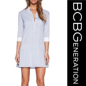 BCBGeneration Striped Pleated Dress NWT ▪️ sz XS
